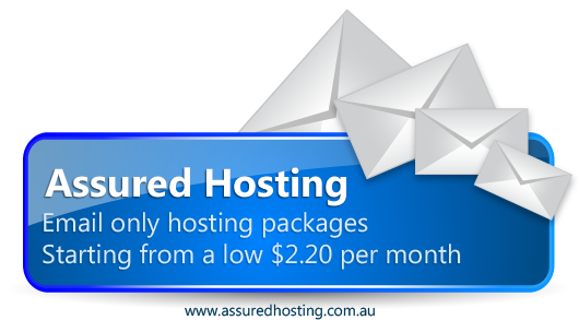 Email only hosting packages starting at a low $2.20 per month